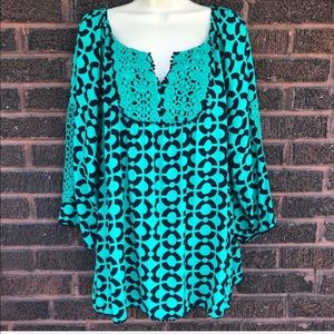Crown & Ivy Green Blouse